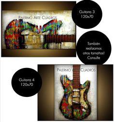 Cuadro Guitarra 3 y 4. Todos los colores y medidas a pedido. Contacto: palermo-arte@hotmail.com