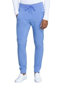 MENS UNISEX ATHLETIC-INSPIRED UNIFORM TWILL JOGGER PANTS PULL UP WITH DRAWSTRING