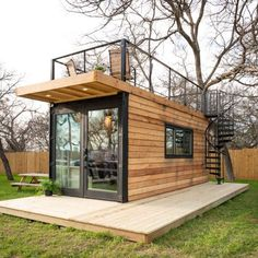 35 Best Shipping Container House Ideas- 2020 - Page 20 of 35 - coloredbikinis. - 35 Best Shipping Container House Ideas- 2020 – Page 20 of 35 – coloredbikinis. Tiny House Cabin, Tiny House Living, Tiny Houses, Wood Houses, Modern Tiny House, Guest Houses, Cargo Home, Shipping Container Home Designs, Shipping Containers