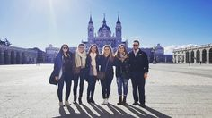 """Perfect day for a visit to the royal palace"" #APISevilla crew enjoys exploring #Madrid for orientation  #spain #ispyapi"