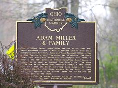 Adam Miller & Family Historical Marker, Avon Lake, Ohio...