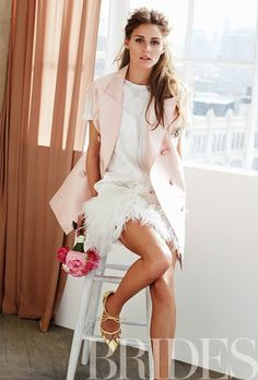 Brides Magazine (love the blush and the messy hair)