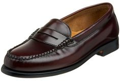 $50, Burgundy Leather Loafers: Wayfarer Penny Loafer by Bass. Sold by Amazon.com. Click for more info: http://lookastic.com/women/shop_items/9501/redirect