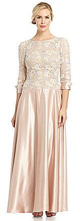 $210.0  JS Collections Lace & Satin Gown