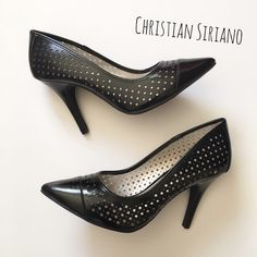 "🎉HP🎉 Black Patent Leather Pumps Classy and fun black patent leather pumps by Christian Siriano for Payless.  ▪️Cut-out circular design ▪️4"" heels ▪️Wide sizing ▪️Never worn  🎉HOST PICK🎉 11.5.16 Back To Basics Party  🚭 Smoke-free home 📬 Ships by next day 💲 Price negotiable  🔁 Open to trades  💟Happy Poshing!💟 Christian Siriano Shoes Heels"