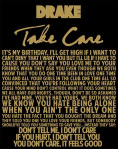 Drake Take Care #lyrics quote