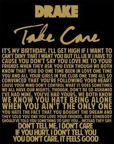 Drake Take Care #lyrics quote