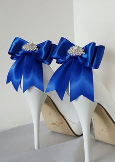 Hey, I found this really awesome Etsy listing at https://www.etsy.com/listing/271337257/royal-blue-wedding-shoe-clipsbridal-shoe