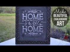 How to Make Beautiful Chalkboard Art (Video)   The DIY Mommy