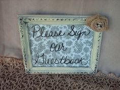 Green Burlap Lace Effect Sit Anywhere No Seating Plan Personalised Wedding Sign