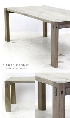 Pierre Cronje Loft II Dining Table in French Oak with a blackwash finish