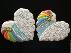 Lace Cookies, Heart Cookies, Biscuit Cookies, Royal Icing Cookies, Fun Cookies, Sugar Cookies, Decorated Cookies, Gingerbread Decorations, Gingerbread Cookies