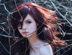 (by Kylie Parks) this is really similar to the other one, but with better hair and without the puppydog head tilt Hot Hair Colors, Red Hair Color, Girls Characters, Female Characters, Kylie, Dark Red Hair, Beauty And Fashion, Female Character Inspiration, Redheads