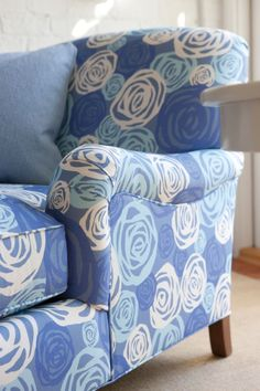 Audrey Chaise | Maine Cottage #colorfulfurniture