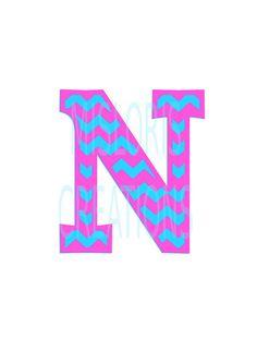 Cheveron Letter monogram N  SVG Cut file  by MissLoriscreativecut