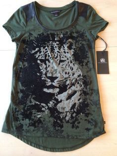 95ee004a92d16 Rock Republic Enlisted Camochta Green Tiger Shirt Women s Size XS New!  44