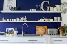 Love blue!  Beach Style  by Gabriel Holland Interior Design