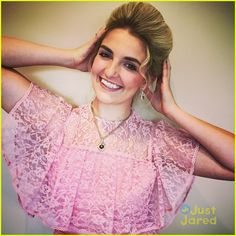 Rydel Lynch goes all Victorian in a gorgeous pink lace dress for her tea party in these new pics from Instagram.
