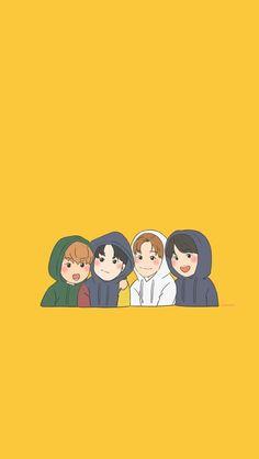 00 line Haechan, Jeno, Jaemin and Renjun Lines Wallpaper, Cartoon Wallpaper, Korea Wallpaper, Nct 127, Jeno Nct, Kpop Fanart, K Pop, K Idols, Nct Dream