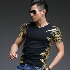 Brand Clothing 2016 Men Fashion Print T-Shirt 100% Cotton Short Sleeve Summer T Shirt For Men #Affiliate
