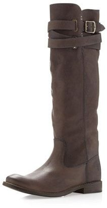 ShopStyle: FryeShirley Buckled Tall Boot, Charcoal