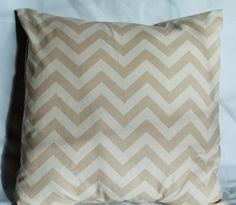 Chevron Decorative throw pillow cover in Khaki and by LivePlush