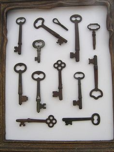 I want to make a few shadowboxes filled with vintage keys. I LOVE vintage keys!