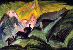 Stafelalp bei Mondschein , by Ernst Ludwig Kirchner