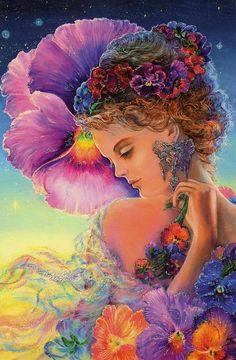 Pansy artwork by Josephine Wall...very beautiful♥