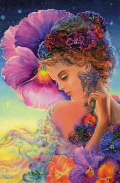 Pansy artwork by Josephine Wall...very beautiful♥