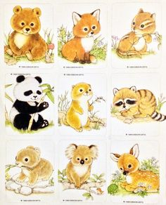 Vintage Gibson baby animal stickers