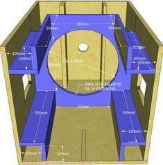 Skema Desain Box Speaker 12 inch Double Untuk Mid-Hi Custom Speaker Boxes, Speaker Box Design, Diy Subwoofer, Subwoofer Box Design, Diy Speakers, Built In Speakers, Woofer Speaker, Speaker Plans, Audio Design
