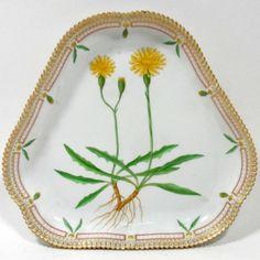 flora danica plates | 21: Royal Copenhagen Flora Danica Triangular Cake Plate : Lot 21