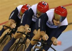 Images From Day Three Of The Velodrome - Women's Team Pursuit finals, Men's Sprint, Men's Omnium. #Olympics2012 #LondonOlympics