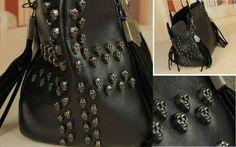embedded skull bag