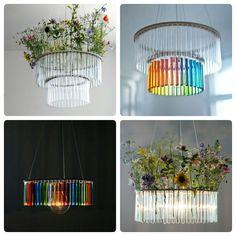 Test tube chandeliers by Pani Jurek