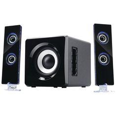 Sylvania 2.1 Portable Bluetooth Speaker Sound System For Home