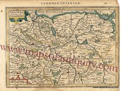 Saxonia Inferior et Meklenborg (Germany) - Antique Maps and Charts – Original, Vintage, Rare Historical Antique Maps, Charts, Prints, Reproductions of Maps and Charts of Antiquity