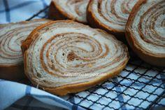 Awayofmind Bakery House: Marble Chocolate Wheel Bread 大理石车轮面包 (65C Tangzhong Method)