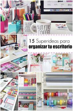 Tener un escritorio en orden y con estilo es muy importante para trabajar... veamos estas 15 ideas para conseguirlo!: