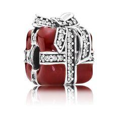 Pandora Charm Rote funkelnde Überraschung 791772CZ