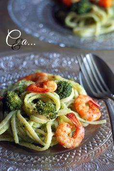 Cucinando e assaggiando...: Linguine con crema di broccoli e...