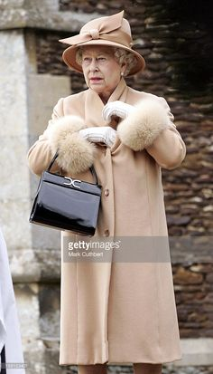 Queen Elizabeth Attends The Christmas Day Service At Sandringham Church. .