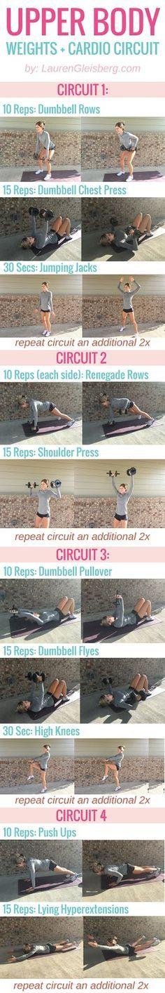 Fitabulous Fall Fitness Calendar: Upper Body Circuit - 10/22 | Lauren Gleisberg | Happiness, Health, & Fitness
