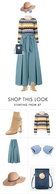 """eva1518"" by evava-c ❤ liked on Polyvore featuring Burberry, Chloé, Temperley London, Christian Dior and Overland Sheepskin Co."