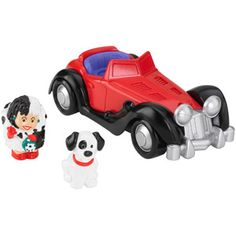 Fisher-Price Little People Disney 101 Dalmatians Cruella's Car -Walmart