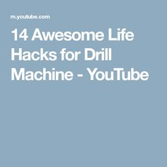 14 Awesome Life Hacks for Drill Machine - YouTube