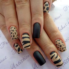 Wild nude and black nails [ VelvetEyewear.com ] #beauty #luxury #style