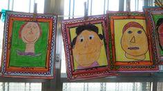 autoretratos de los niños de 5 años en el proyecto sobre Picasso