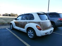 A limited edition woody pt cruiser that we saw in St. Charles.
